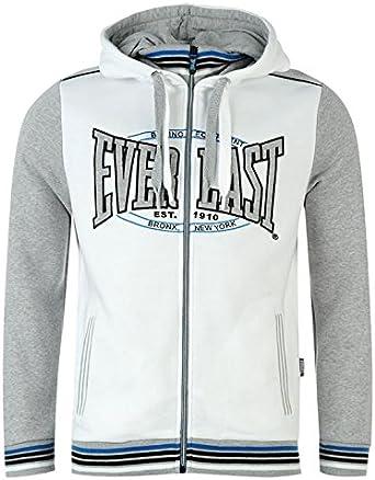 Everlast Veste Zippée Sweat à Capuche Homme (M, Blanc