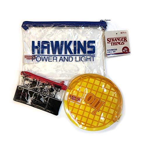 Taste Beauty Stranger Things Hawkins 3 piece Cosmetic Case Set ()