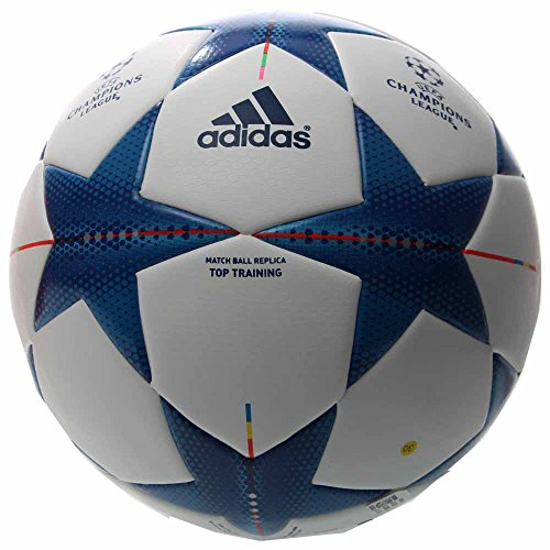 adidas Performance Finale 15 Top training Soccer Ball, White/Bright Cyan/Bright Blue, 4 (Finale Ball Adidas)