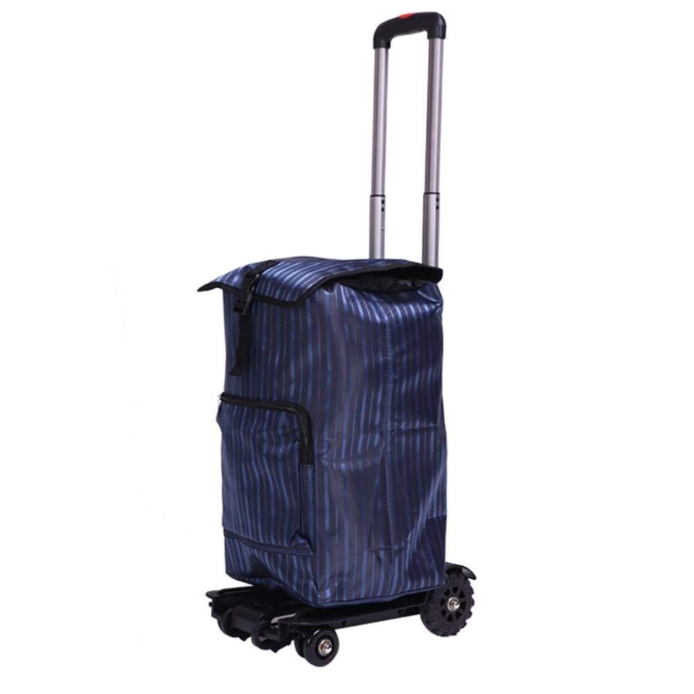 【ラッピング不可】 買物かご、トロリー多目的携帯用アルミ合金の軽量の身に着けている折り畳み式の世帯旅行食料雑貨品店のショッピングカート47L : (色 : 青) 青 青) B07R2DYZ87 B07R2DYZ87, 会津高原物産館:a7622b89 --- a0267596.xsph.ru