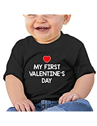 Infant Toddler Short Sleeve My First Valentine's Day T-Shirt