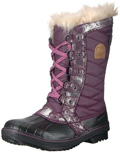 Sorel Youth Snow - SOREL Girls' Youth Tofino II Snow Boot, Purple Dahlia, Rosewater, 5 M US Big Kid