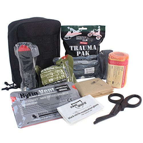 Bleeding Aid First (MediTac Premium IFAK Kit - Feat. Trauma Pak, CAT Tourniquet, HyFin Vent Chest Seal, Israeli Bandage)