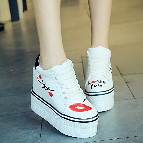 five Sports White The Leisure Korean Slope KHSKX Thirty Increase In With Shoes Soled Shoes Female Thick xZwxX7Cqd