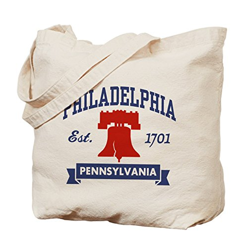 CafePress - Philadelphia PA - Natural Canvas Tote Bag, Cloth Shopping - Pa Shopping In Philadelphia