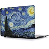 MacBook Air 13 Inch Case, iCasso Rubber Coated Hard Case Only Compatible Older MacBook Air 13 (Models: A1369 / A1466, Older Version Release 2010-2017),Starry Night
