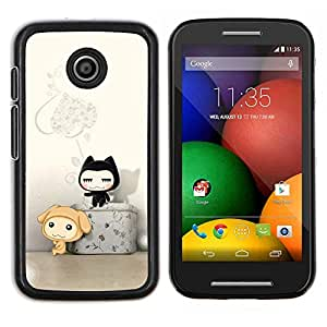 "For Motorola Motorola Moto E / XT1021 / XT1022 , S-type haos Uzor svet cvet Shtrih ()"" - Arte & diseño plástico duro Fundas Cover Cubre Hard Case Cover"