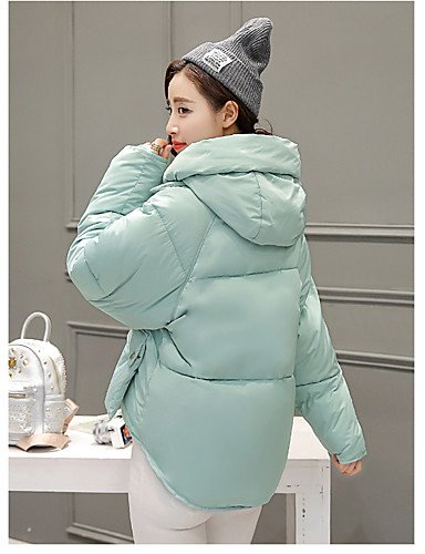 CYAN YRF Pink Long Green Sleeve M Down Cute Solid White Hooded Street Black Coat Women's chic Blue ZpAwqRp