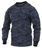 Rothco Long Sleeve Digital T-Shirts, Midnight Digital Camo, Large