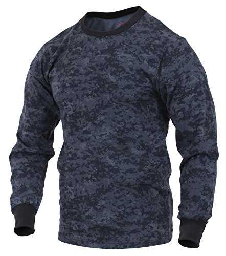 Rothco Long Sleeve Digital T-Shirts, Midnight Digital Camo, X-Large (Tactical Digital Camo)