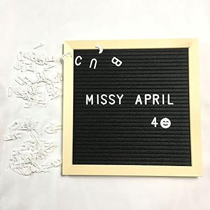 Alftek feltro lettera di legno telaio Changeable simboli numeri personaggi Message Boards Home Office Grey