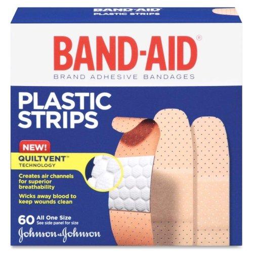 Wholesale CASE of 25 - Johnson Band-Aid Plastic Bandages-Adhesive Bandages, Plastic, 3/4, All One Size, 60/BX