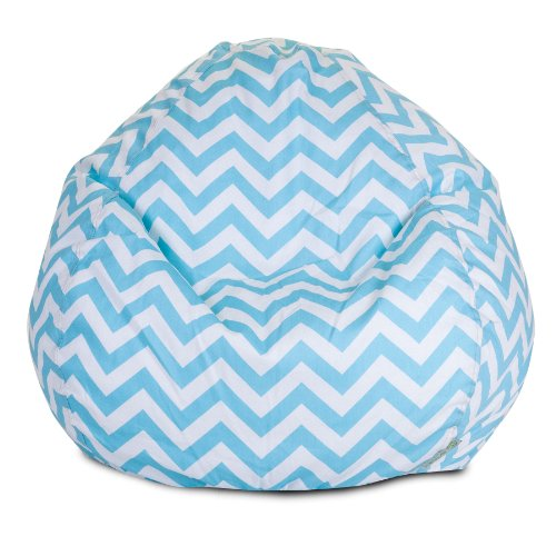 Majestic Home Goods Chevron Bean Bag, Small