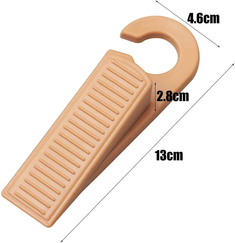 3 Pack pengxiaomei Door Wedges Rubber Hook Door Stopper Holds Doors Open and Prevent The Lock-Outs