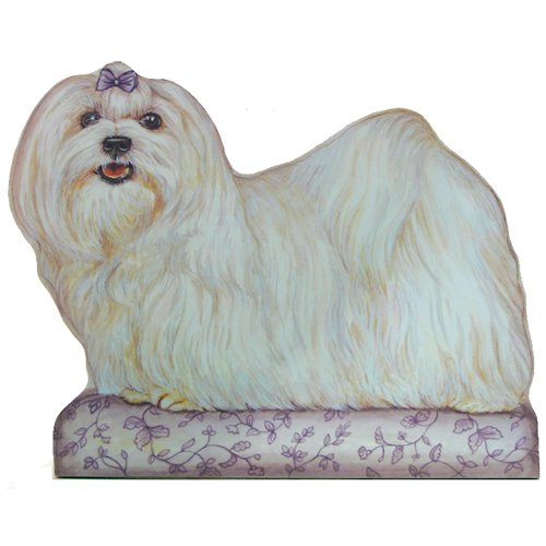 Maltese Dog Doorstop by Stupell