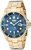 Watches : Invicta Men's Pro Diver Quartz Watch with Stainless Steel Strap, Gold, 22 (Model: 30024)