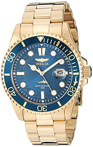 Invicta Men's Pro Diver Quartz Watch with Stainless Steel Strap, Gold, 22 (Model: 30024) from Invicta