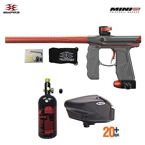 Empire Mini GS HPA Paintball Gun Package - Dust Grey/Orange ()