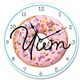 The Stupell Home Decor Collection Stupell Industries Yum Time! Donut Vanity Clock, Proudly Made in USA For Sale