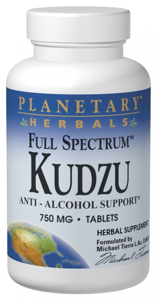 Planetary Herbals Kudzu Full Spectrum 750 mg, Anti-Alcohol Support,240 Tablets
