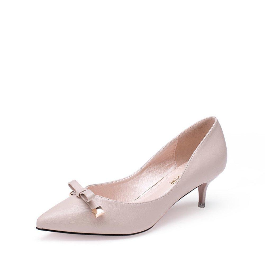 Damen Spring Schuhe/Asakuchi koreanischen wies Schuhe/Mit Bögen in der koreanischen Schuhe/Asakuchi Version der Stiletto Schuhe B a4bbea
