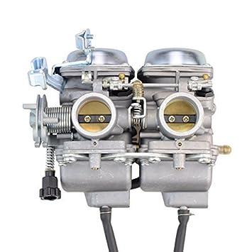 Amazon Fr Goofit Twin Double Cylindre De Carburateur Carb