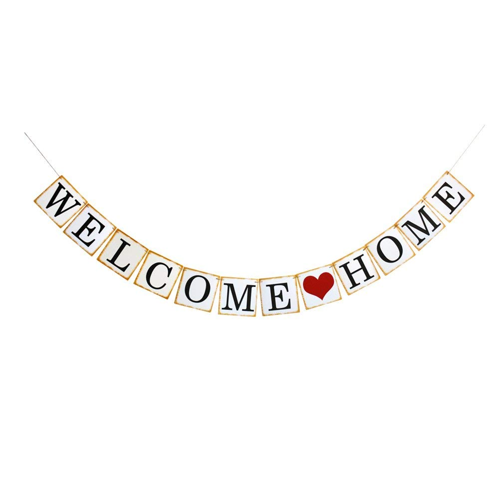 Welcome Home Banner, Family Theme Party Decorations, Celebrating Party Sign