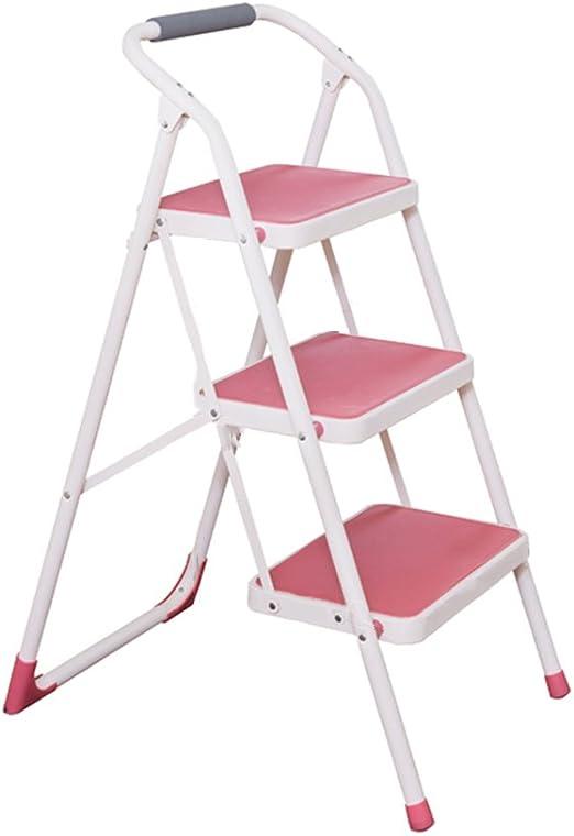 Bxfdc Taburete de Escalera Plegable de Tres peldaños, Tijeras para el hogar, Escalera de Espesor, multifunción, para el hogar, Taller, Garaje, Altura instantánea de 73,5 cm: Amazon.es: Juguetes y juegos