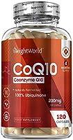 Coenzima Q10 200mg, 120 Cápsulas Vegano - Suplemento CoQ10 De la Fermentación de la Ubiquinona, Co Q10 100% Natural de...