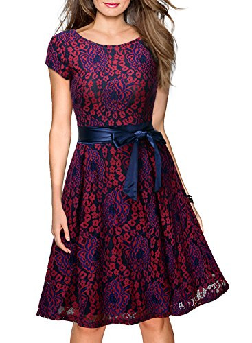 Miusol-Womens-Vintage-Floral-Lace-Contrast-Bow-Cocktail-Evening-Dress