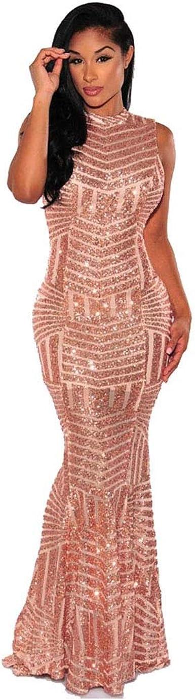 Carolina Dress Vestidos Largos De Mujer Sexys Dorados Ropa De Moda Para Fiesta Noche Elegantes Para Quinces Prom Y Bodas At Amazon Women S Clothing Store
