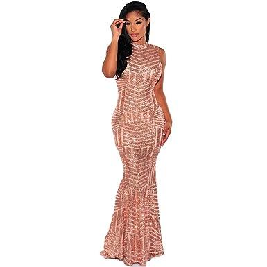 e2976c936 Carolina Dress Vestidos Largos De Mujer Sexys Dorados Ropa De Moda para  Fiesta Noche Elegantes para