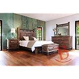 Amazon Com King Size Copper Creek Bedroom Set Dark Stain