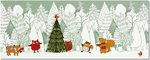 Woodland Friends Panoramic Boxed Holiday Cards (Christmas Cards, Holiday Cards, Greeting - Boxed Card Friends Holiday