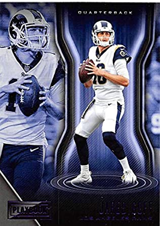 1bd32af9 Amazon.com: 2018 Playbook Purple Parallel Football #89 Jared Goff ...
