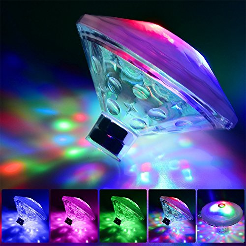 Ocamo Colourful Kids Flying Saucer Bathtub Light Waterproof Bathing Toys Floating Lamp for Bathtub Swimming Pool Pond Spa Decoration