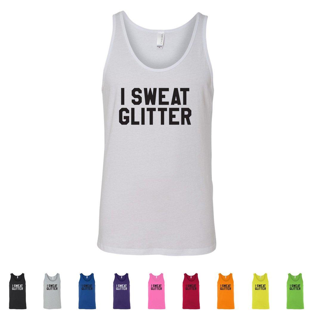 CheapAssTees I Sweat Glitter Mens Tank