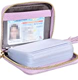 Yuhan Pretty Womens Credit Card Holder Wallet RFID Leather Small ID Card Case (lichi 20 Purple)