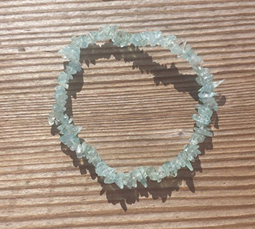 515oWAyPBxL - [A&S Crystals] AQUAMARINE Natural Stone Gemstone Stretchy Chip Bracelet