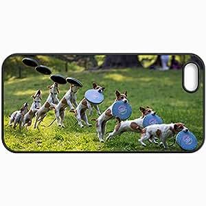 Fashion Unique Design Protective Cellphone Back Cover Case For iPhone 5 5S Case Dog Black