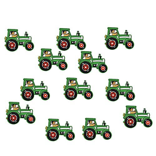(Funnytoday365 DIY Tractors Patches for Clothing Iron Embroidered Patch Applique Iron On Patches Sewing Accessories Badge Stickers On)