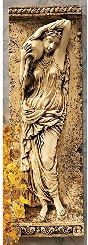 Design Toscano Water Maidens Seine Wall Frieze in Antique Stone