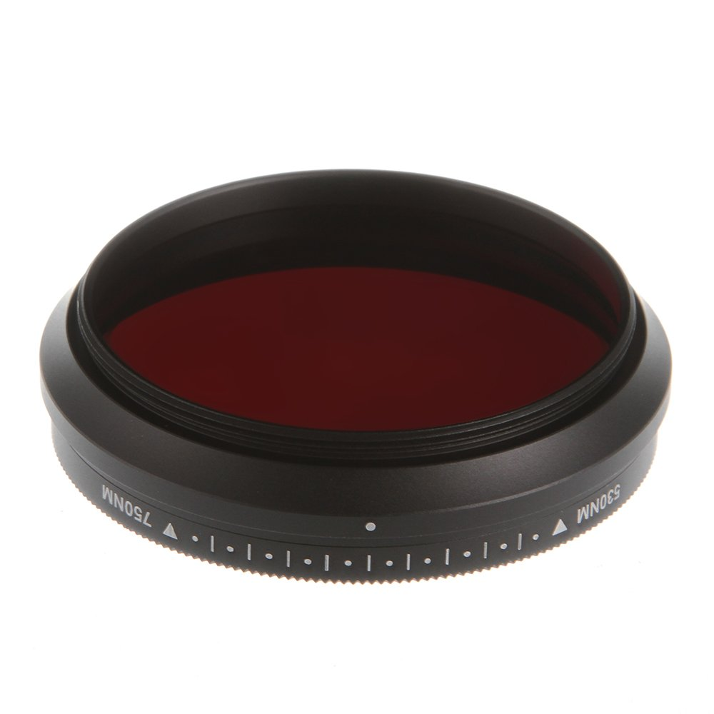 Runshuangyu 49MM Optical Glass Circular Infrared X-Ray Adjustable IR Pass Filter, Variable from 530nm to 750nm 590nm 680nm 720nm for DSLR Camera Photography by Run Shuangyu