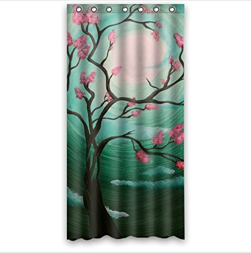 Beautiful Cherry Blossom TreeJapan Art 100 Polyester Shower Curtain 36 Wide X 72 Long