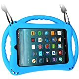 TopEsct Kid-Proof Case for Amazon Fire 7 Tablet (ONLY Compatible with 7th Generation Tablets, 2017 Releases) Handle Stand Cover Case for Kids (Blue)