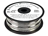 16 AWG Tinned Marine Primary Wire, Black, 100 Feet