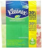 Kleenex Lotion Facial Tissue (4 Boxes/75 Sheets Per Box) ( Designs & colors will vary ) by Kleenex