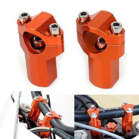 JFG Racing Motocicleta Completa Superior Handlebar Riser Mount Clamps para KTM 125-530 SX SXF EXC XCW EXCF 00-16 Naranja JFGRACING