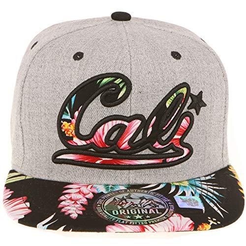 - RufnTop Snapback Cap, Hawaii Flaral Embroidered Hat Flat Baseball Adjustable Caps (Tropical Black)