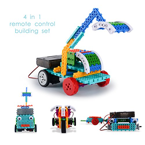 Remote Control Building Kits for Boy Gift - STEM Robot Kits for Boy Gifts RC Construction Set Build Robot Kit for Kids - Build Your Own Remote Control Car ()